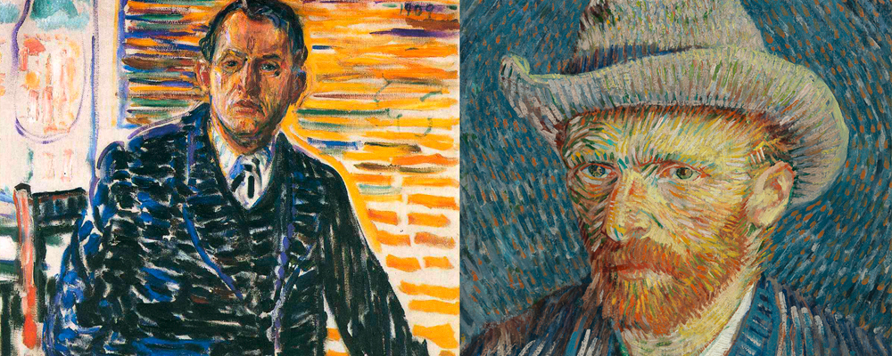 the works of vincent van gogh and edvard munch Vincent van gogh's eternity's gate, 1890 although the scream has long been seen as a singular image – an anomaly in its own time and a timeless icon of the modern psyche – the picture in fact relates closely to others of the same period, both by munch and his contemporaries.